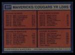 1974 Topps #221   -  Joe Caldwell / Tom Owens / Mack Calvin / Billy Cunningham Spirits Team Leaders Back Thumbnail