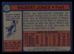 1974 Topps #237  Wilbert Jones  Back Thumbnail