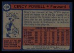 1974 Topps #198  Cincy Powell  Back Thumbnail