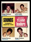 1974 Topps #225   -  Larry Finch / George Thompson / Randy Denton Sounds(Pros) Team Leaders Front Thumbnail
