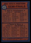 1974 Topps #247   ABA West Semi-Finals Back Thumbnail