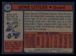 1974 Topps #184  Gene Littles  Back Thumbnail