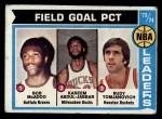 1974 Topps #146  Kareem Abdul-Jabbar / Bob McAdoo / Rudy Tomjanovich  Front Thumbnail