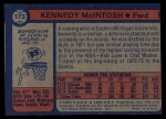 1974 Topps #173  Kennedy McIntosh  Back Thumbnail