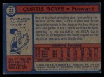 1974 Topps #22  Curtis Rowe  Back Thumbnail