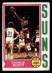 1974 Topps #35  Charlie Scott  Front Thumbnail