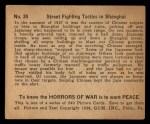 1938 Gum Inc. Horrors of War #30   Street Fighting Tactics in Shanghai Back Thumbnail