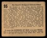 1938 Gum Inc. Horrors of War #95   Ras Seyum's Bodyguard Defends Palace Back Thumbnail
