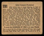 1938 Gum Inc. Horrors of War #191   Italian Conquest Proclaimed Back Thumbnail