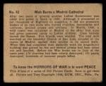 1938 Gum Inc. Horrors of War #42   Mob Burns Madrid Cathedral Back Thumbnail
