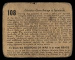 1938 Gum Inc. Horrors of War #108   Gibraltar Gives Refuge to Spaniards Back Thumbnail
