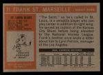 1972 Topps #71  Frank St.Marseille  Back Thumbnail