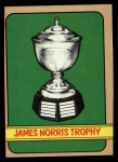 1972 Topps #172   Norris Trophy Front Thumbnail