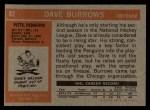 1972 Topps #82  Dave Burrows  Back Thumbnail
