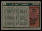1975 Topps Mini #18   -  Ralph Houk Tigers Team Checklist Back Thumbnail