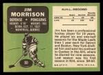 1970 Topps #90  Jim Morrison  Back Thumbnail