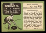 1970 Topps #92  Ken Schinkel  Back Thumbnail