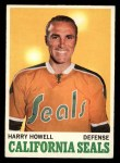 1970 Topps #72  Harry Howell  Front Thumbnail