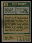 1971 Topps #76  Bob Berry  Back Thumbnail