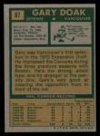 1971 Topps #87  Gary Doak  Back Thumbnail