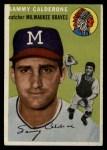 1954 Topps #68  Sammy Calderone  Front Thumbnail