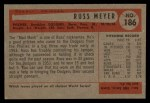 1954 Bowman #186  Russ Meyer  Back Thumbnail