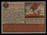 1962 Topps #357  Jerry Walker  Back Thumbnail