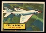 1957 Topps Planes #48 BLU  F3h-2N Demon Front Thumbnail
