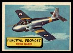 1957 Topps Planes #30 BLU  Percival Provost Front Thumbnail