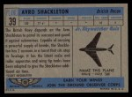 1957 Topps Planes #39 BLU  Avro Shackleton Back Thumbnail