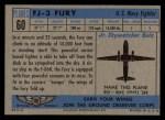 1957 Topps Planes #60 BLU  Fj-3 Fury Back Thumbnail
