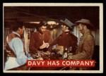 1956 Topps Davy Crockett Green Back #45   Davy Has Company  Front Thumbnail