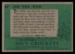 1956 Topps Davy Crockett Green Back #61   On the Run  Back Thumbnail
