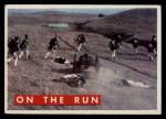 1956 Topps Davy Crockett Green Back #61   On the Run  Front Thumbnail