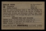 1952 Bowman Small #58  Zollie Toth  Back Thumbnail
