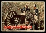 1956 Topps Davy Crockett Green Back #57   Ol' Betsy's Victim  Front Thumbnail