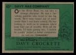 1956 Topps Davy Crockett Green Back #45   Davy Has Company  Back Thumbnail