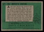 1956 Topps Davy Crockett Green Back #57   Ol' Betsy's Victim  Back Thumbnail