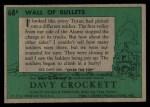 1956 Topps Davy Crockett Green Back #68   Wall of Bullets  Back Thumbnail