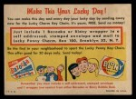 1957 Topps   Lucky Penny Card Back Thumbnail