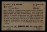 1952 Bowman Small #102  Bob Cross  Back Thumbnail