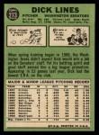 1967 Topps #273  Dick Lines  Back Thumbnail