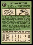 1967 Topps #213  Jay Johnstone  Back Thumbnail