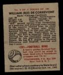 1948 Bowman #5  Bill De Correvont  Back Thumbnail