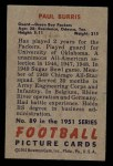 1951 Bowman #89  Paul Burris  Back Thumbnail