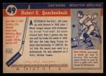 1954 Topps #49  Bill Quackenbush  Back Thumbnail