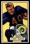1951 Bowman #76  Elroy Hirsch  Front Thumbnail