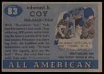 1955 Topps #83  Ted Coy  Back Thumbnail