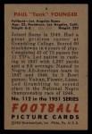 1951 Bowman #112  Tank Younger  Back Thumbnail