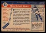 1954 Topps #41  Allan Stanley  Back Thumbnail